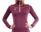HyggeWool Women´s Zip Neck // Wine Red thumbnail