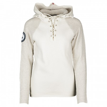 Amundsen BOILED HOODIE LACED DAME Oatmeal
