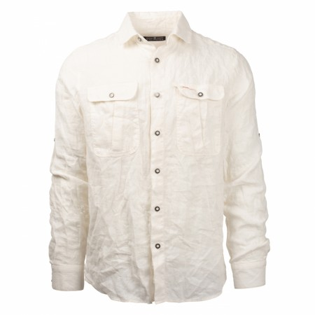 AMUNDSEN SAFARI LINEN SHIRT MENS / NATURAL
