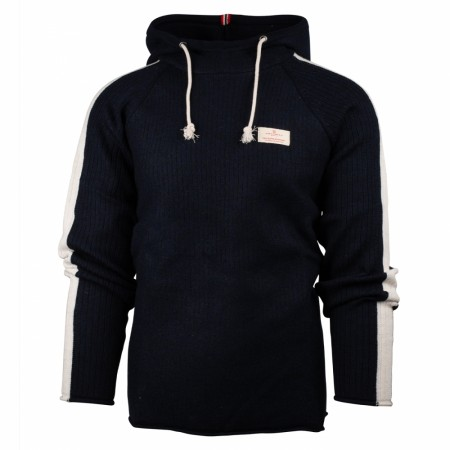 AMUNDSEN BOILED HOODIE STRIPES Mens / Faded Navy