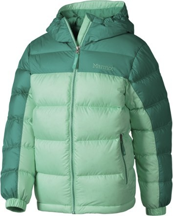 Marmot Girl's Guides Down Hoody - Green Frost