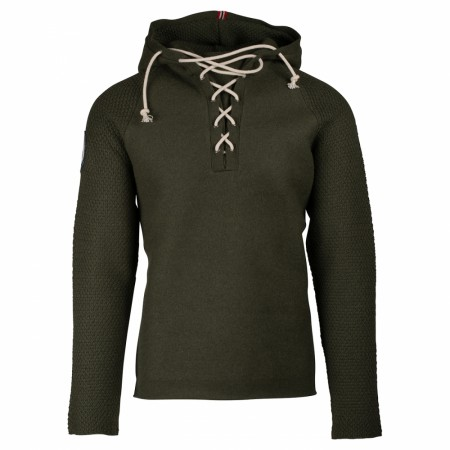 Amundsen BOILED HOODIE LACED MENS - Earth