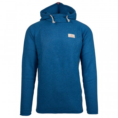 BOILED HOODIE RIBBED MENS - Battered Blue