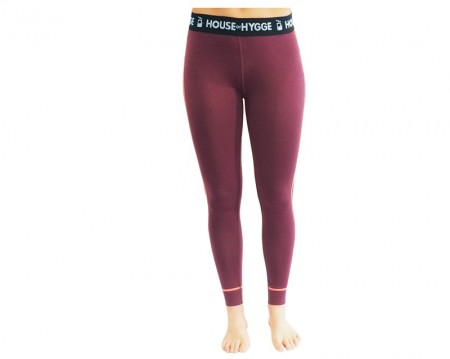 HyggeWool Women´s Long Pants // Wine Red