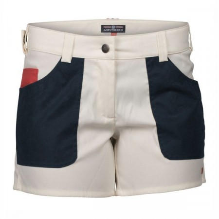 Amundsen 5INCHER SAFARI FIELD SHORTS WOMENS / WHITE/FADED NAVY