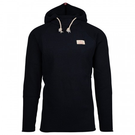 AMUNDSEN BOILED HOODIE RIBBED MENS - Navy