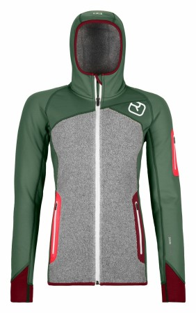 ORTOVOX FLEECE PLUS HOODY Womens / Green Forest