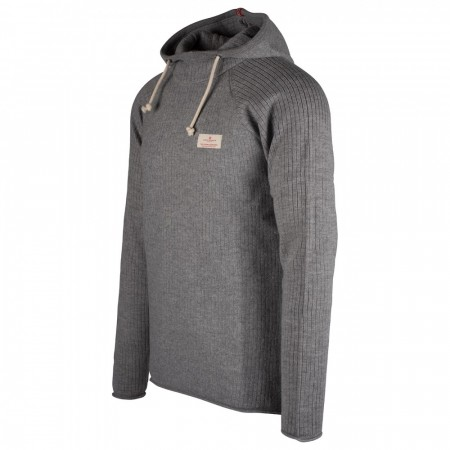 AMUNDSEN BOILED HOODIE RIBBED MENS - Grey