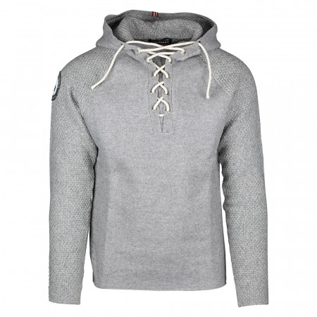 AMUNDSEN BOILED HOODIE LACED MENS - Light Grey