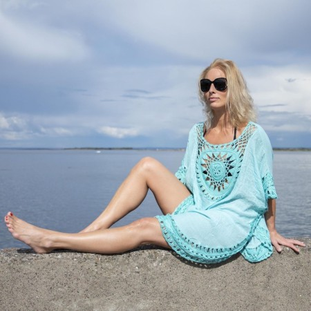 StrandPoncho Tropical Vibes Turkis